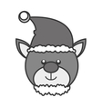 beer christmas character icon vector image