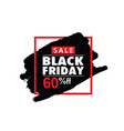 Black friday in frame color vector image