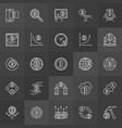 cryptocurrency and mining concept icons vector image