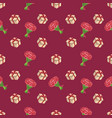 cute seamless background patterns with flowers and vector image
