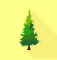 mountain tree icon flat style vector image
