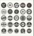 retro labels and badges collection vector image