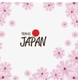 japanese culture natural flowers vector image