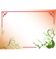 red and green floral frame vector image