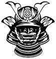 Samurai helmet and menpo with yodare kake vector image