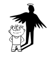 Angel manager vector image vector image