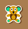 paper sticker on stylish background koala toy vector image