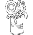 Can of worms saying cartoon vector image