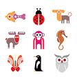 Animal icon set vector image