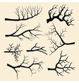 Tree branches set in hand drawn style vector image