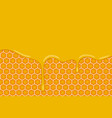 background with honeycombs and honey vector image