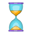 Hourglass icon cartoon style vector image