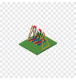 isolated swing isometric seesaw element vector image