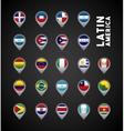 latin america countries vector image