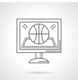 Online game flat line design icon vector image