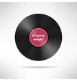 Realistic vinyl disc record Vintage music vector image