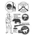 Safari in Africa Giraffe rhino cheetah and vector image