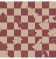Seamless background of chess vector image