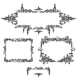 Set frames calligraphy vector image