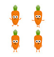 set with cartoon carrots vector image