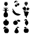 Silhouettes of frui vector image