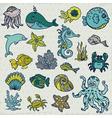 Summer Sea Life creatures vector image