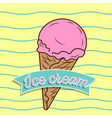 vintage ice cream poster design vector image