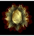 design dark colors with Easter egg vector image