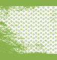 greenery doodle stroke and dot seamless pattern vector image vector image