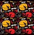 Seamless pattern with graphic image of cheese vector image