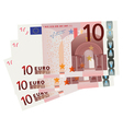 10 Euro bills vector image vector image