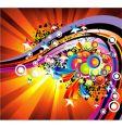 absrtact rainbow vector image vector image