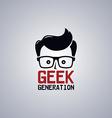 geek nerd guy vector image