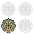 Ethnic geometric design vector image