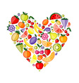 Energy fruit heart shape for your design vector image