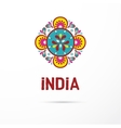 India - Mandala oriental pattern Indian icon vector image vector image