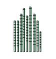 bamboo sticks icon vector image