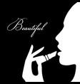 beauty girl silhouette beautiful woman vector image