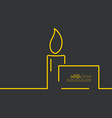 Funeral candle vector image