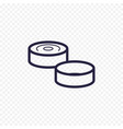 game of checkers line icon checkers figure thin vector image