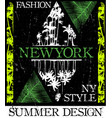 new york fashion style tee art vector image
