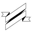 pictogram ribbon banner blank design vector image