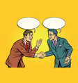 business negotiations businesspeople shaking hands vector image