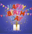 happy birthday balloon letters background vector image