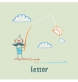 letter vector image vector image