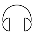 headphones thin line icon vector image