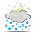climate Cloud moon and snow vector image