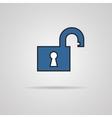 Open lock icon - icon vector image