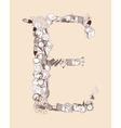 E School alphabet letter vector image