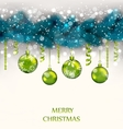 Traditional Decoration with Fir Branches and Glass vector image